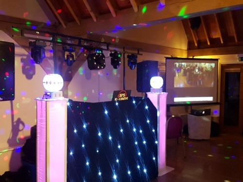 Projector Screen for disco parties in Hertfordshire